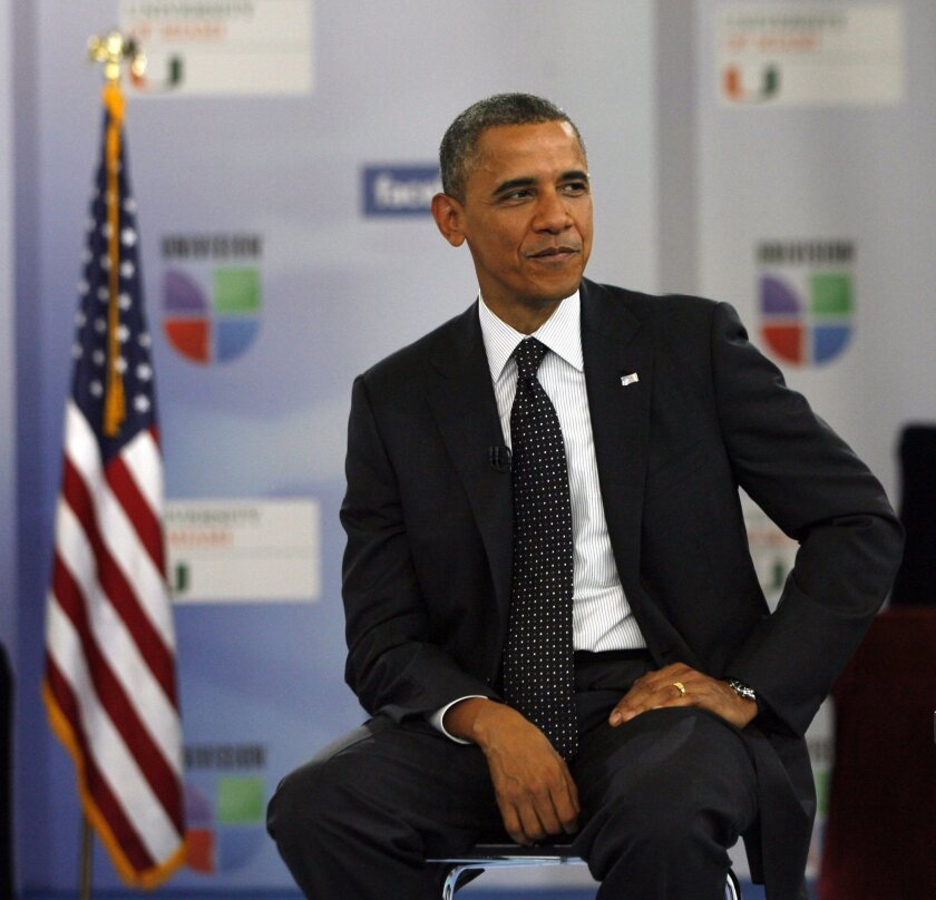 """""""The most important lesson I've learned is that you can't change Washington from the inside, you can only change it from the outside,"""" said President Obama during a """"Meet the Candidates"""" interview for the Spanish-language network Univision."""