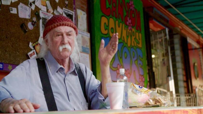 """David Crosby in a scene from """"David Crosby: Remember My Name,"""" directed by A.J. Eaton and produced by Cameron Crowe."""