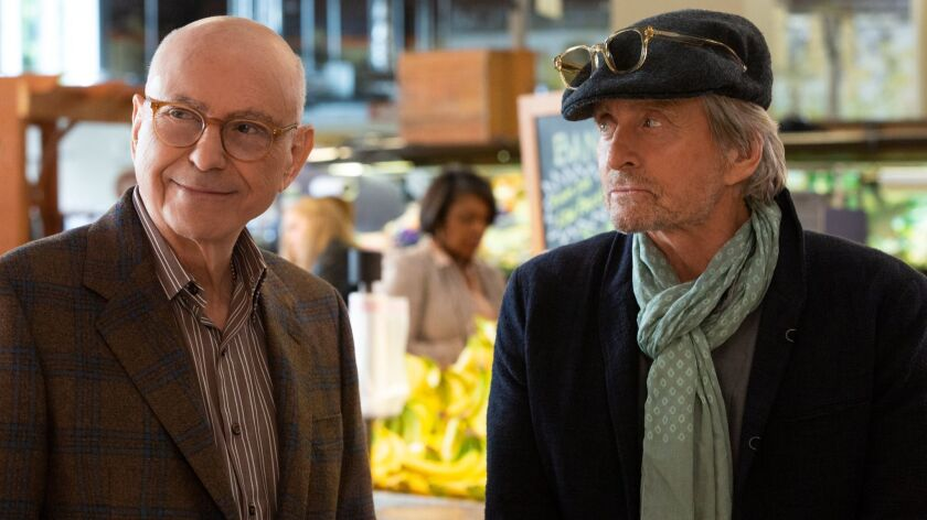 Alan Arkin and Michael Douglas in a scene from 'The Kominsky Method'