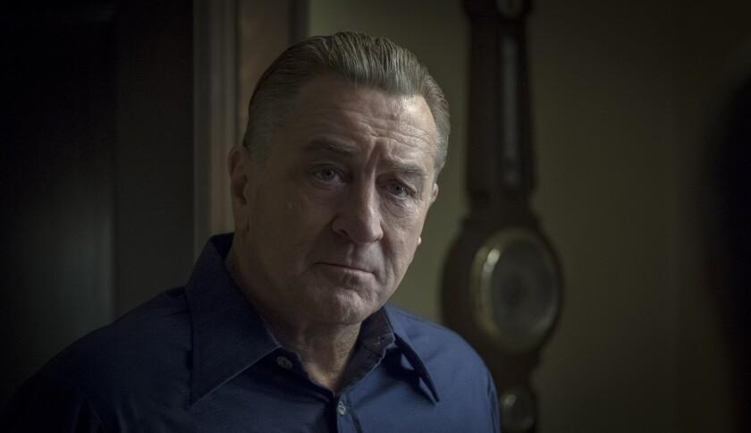 """Robert De Niro, de-aged to mid-50s, in """"The Irishman."""""""