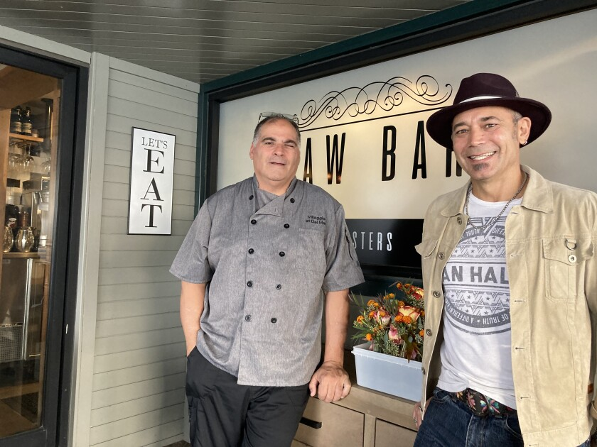 Jay Bartolomei and Troy Nunez opened Villaggio in Del Mar.