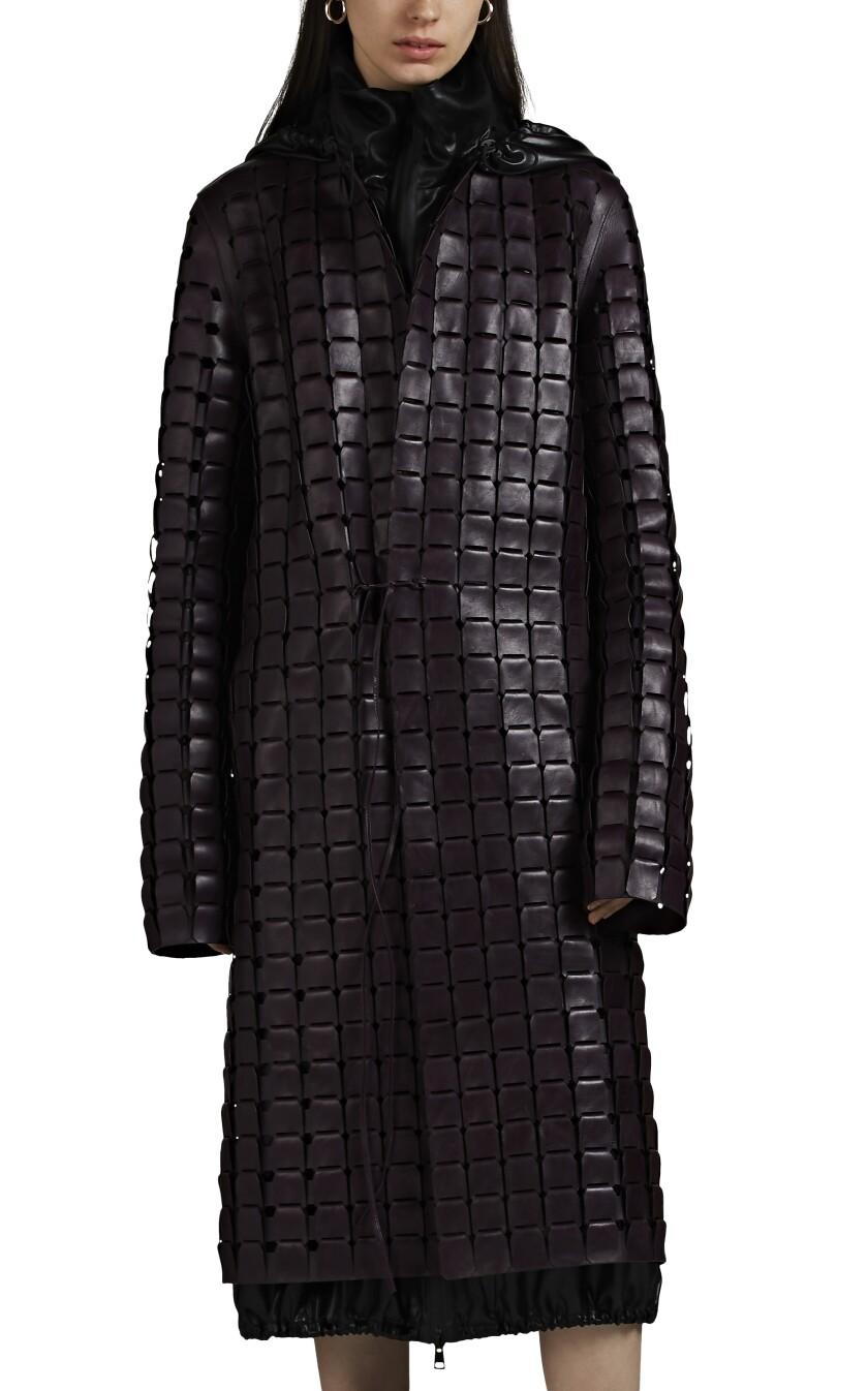 This Bottega Veneta laser-cut leather coat is an exclusive to Barneys this season.