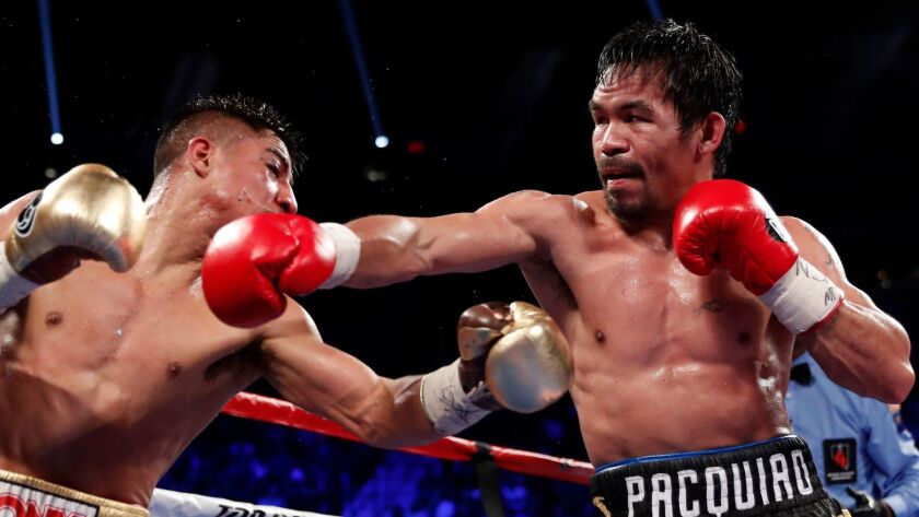 Manny Pacquiao, right, defeated Jessie Vargas by unanimous decision on Nov. 5 in Las Vegas.