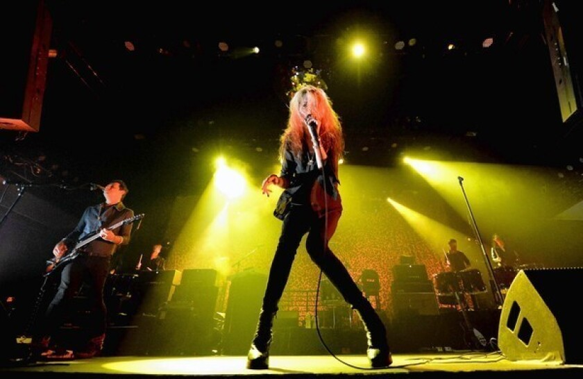 Musicians Jamie Hince and Alison Mosshart of The Kills perform at the Mayan Theatre in August.