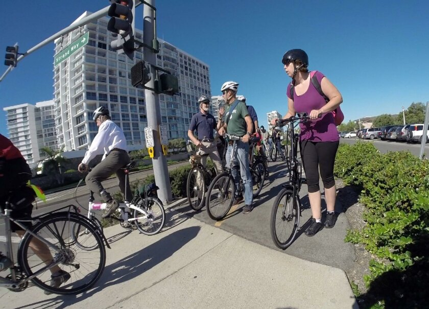 Bicyclists toured Coronado as part of the national Bike Tourism conference heldlsat year in San Diego. Construction of the first of several new bicycle projects is expected to begin on Jan. 1./U-T San Diego/Zuma