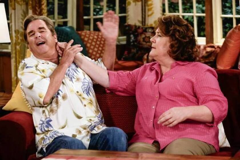 """The new CBS sitcom """"The Millers"""" stars Beau Bridges and Margo Martindale as a long-married couple who've recently split."""