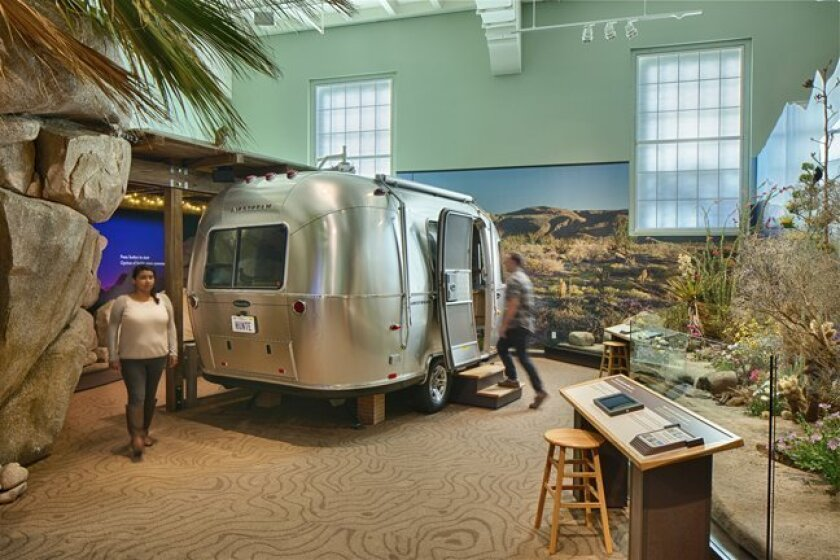 The exhibit, 'Coast to Cactus in Southern California,' at theNAT (San Diego Natural History Museum) includes a multimedia theater attraction with an Airstream Bambi trailer and transports visitors to the desert at night, when the sun goes down and the landscape comes to life.