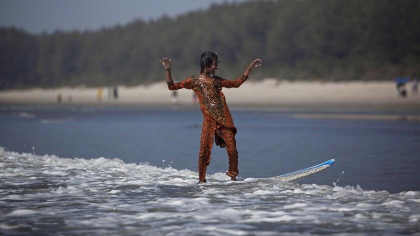 Bangladeshi surfer girls