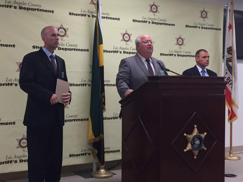 Lt. Mike Rosson and investigators from the Los Angeles County Sheriff's Department report the arrest of Sarah Montoya.