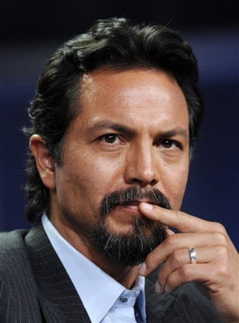 """FILE - In this July 9, 2008 file photo, Benjamin Bratt, star of the new movie """"The Lesser Blessed,"""" participates in a panel discussion during the Television Critics Association summer press tour in Beverly Hills, Calif. (AP Photo/Chris Pizzello, file)"""