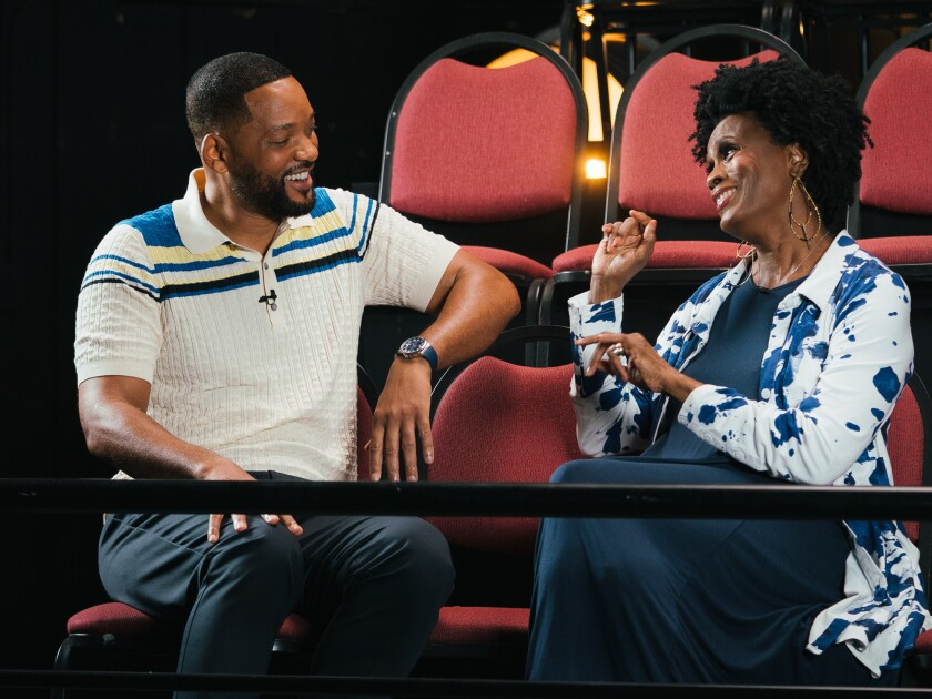 "Will Smith and Janet Hubert in HBO Max's ""Fresh Prince of Bel-Air"" reunion special."
