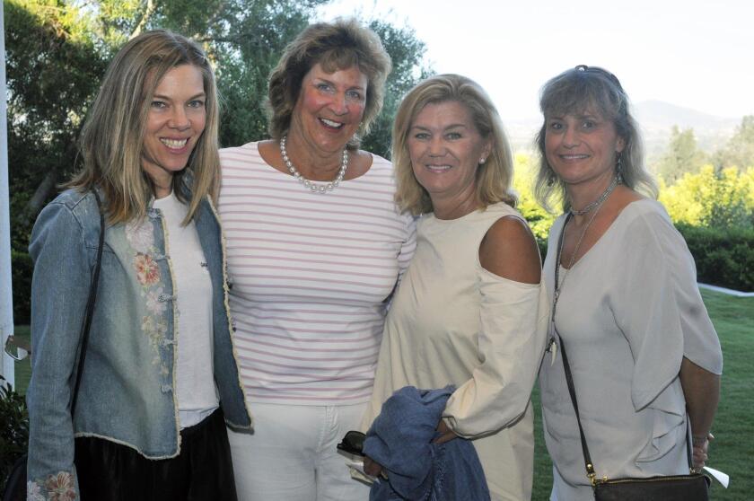 Megan McLaughlin, co-captain Julie Tafel Klaus, Connie Pittard, Uli Heine