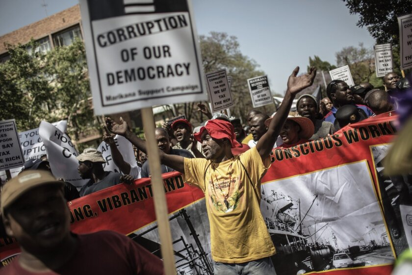 South Africa anti-corruption protest