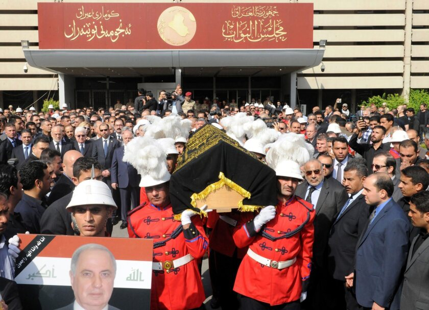 Funeral of Ahmed Chalabi in Baghdad