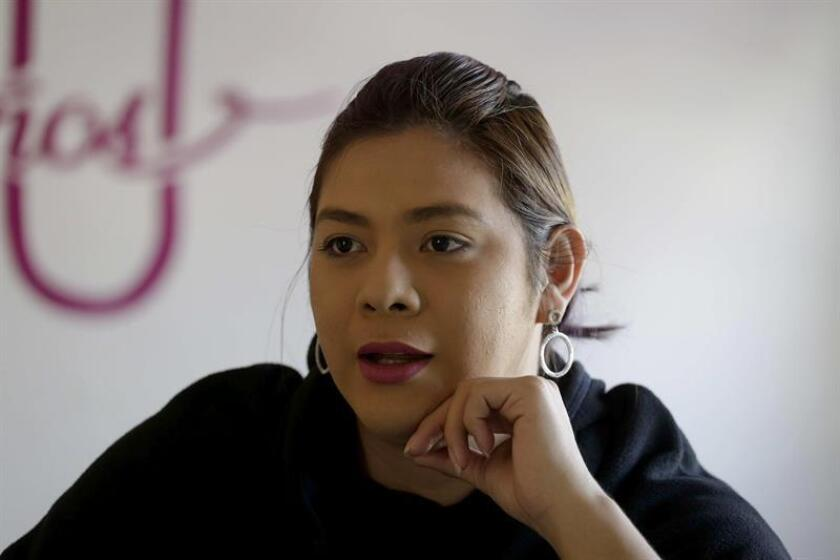 Activist Bianka Rodriguez, seen during an interview with EFE on Dec. 21, 2018, says that the lesbian, gay, bisexual, transgender and intersex (LGBTI) community in El Salvador fears their cause will suffer a setback if the right wins the 2019 presidential elections. EFE-EPA/Rodrigo Sura