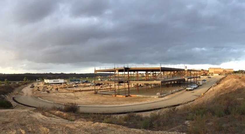 The view of Pacific Trails, currently under construction in Pacific Highlands Ranch.