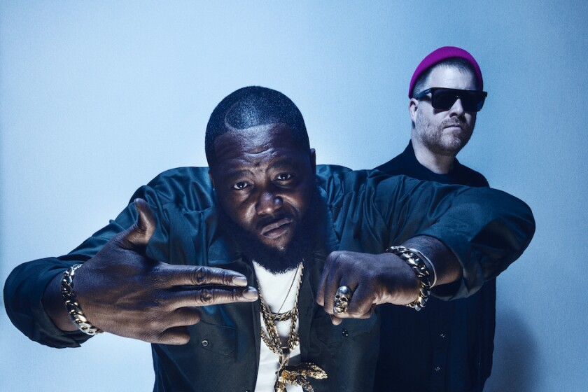 Killer Mike, left, and El-P of the hip-hop duo Run the Jewels.