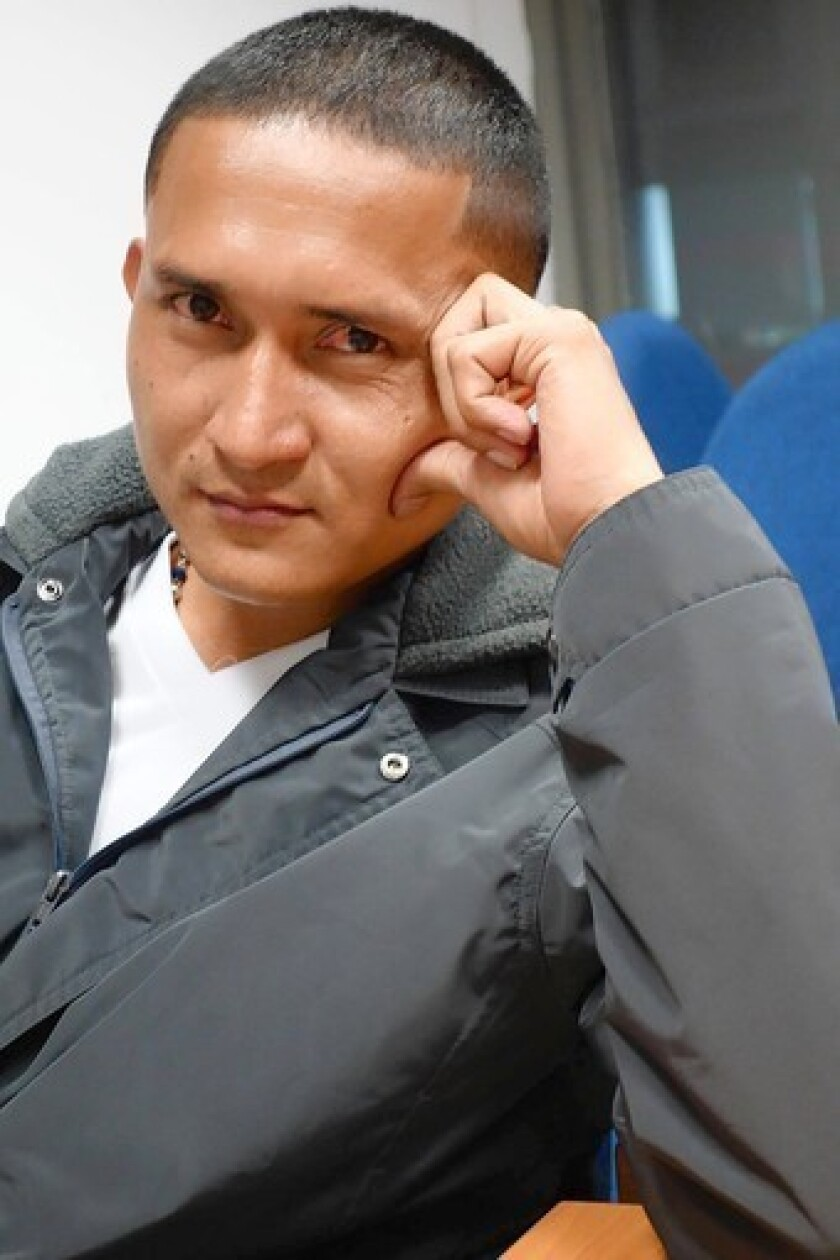 Former FARC commander Reinel Usuga quit the Colombian rebel ranks this month and is now undergoing a three-month demilitarization process in Bogota.