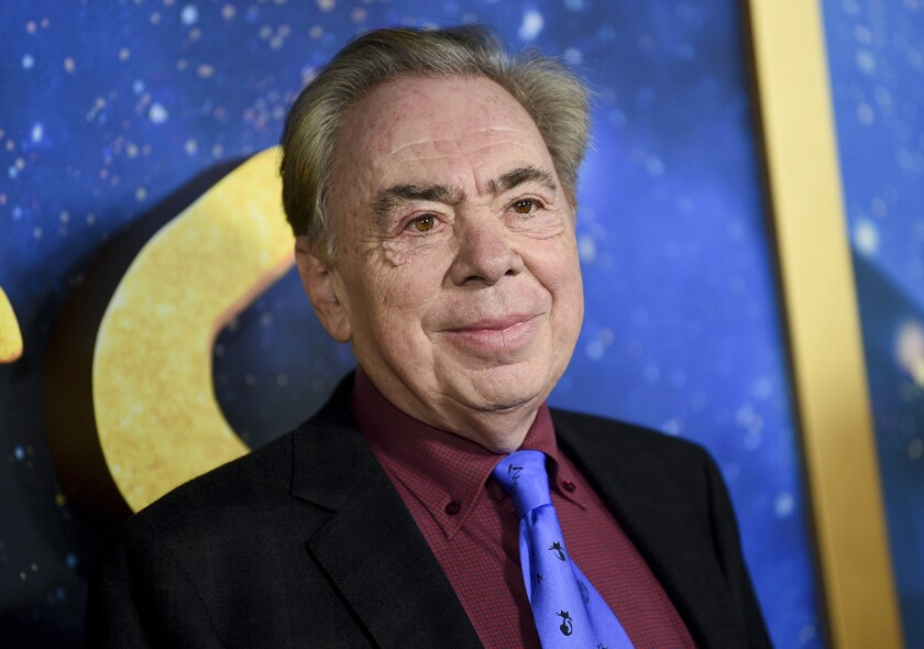 """FILE - This Dec. 16, 2019 file photo shows composer and executive producer Andrew Lloyd Webber attending the world premiere of """"Cats"""" in New York. Webber is celebrating the 50th anniversary of the release of his """"Jesus Christ Superstar"""" album with the first single from his latest musical — """"Cinderella."""" The song is called """"Bad Cinderella"""" and is sung by Carrie Hope Fletcher, who plays the title character in what is being billed as a """"complete reinvention of the classic fairytale."""" (Photo by Evan Agostini/Invision/AP, File)"""