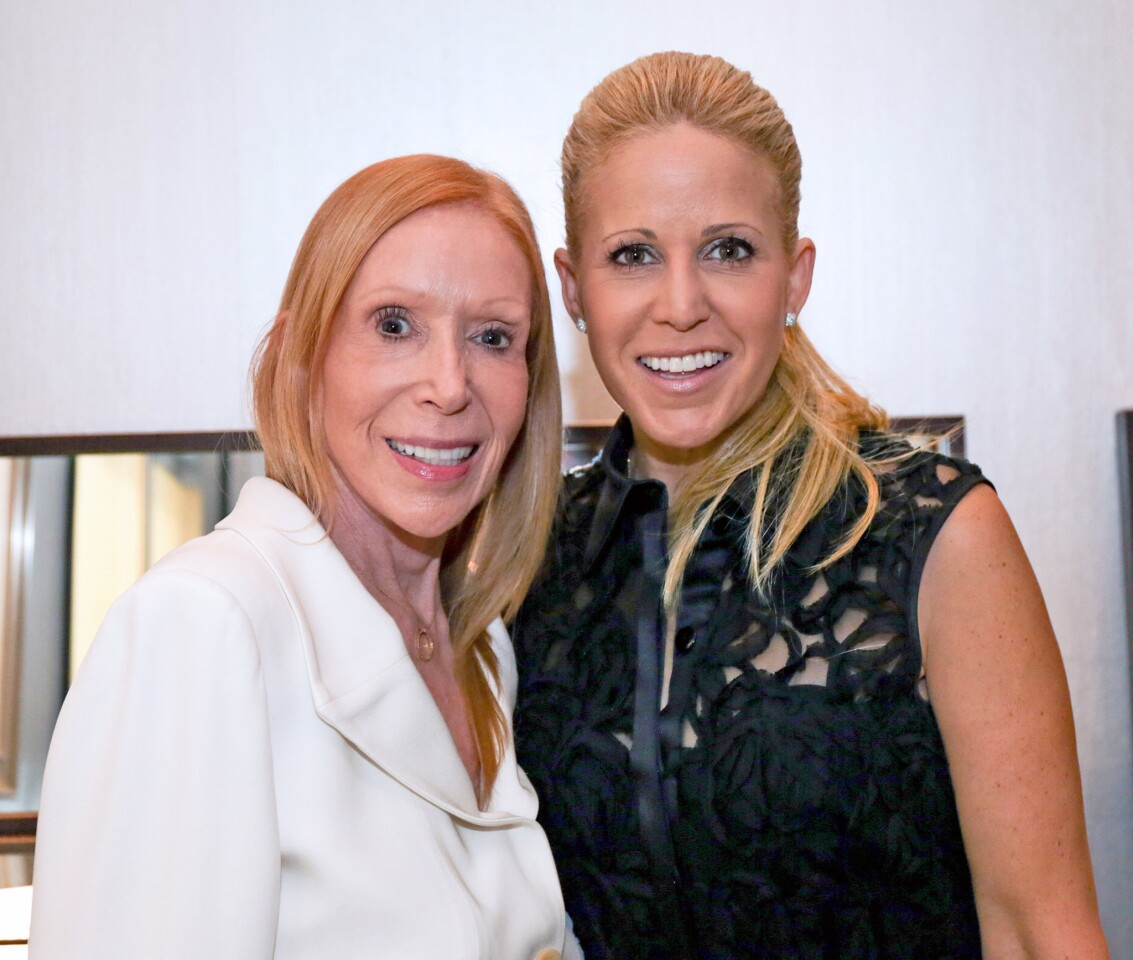 Lana Sills and Jamie Gwen showed their support of SPIN at the Lugano Diamonds event.