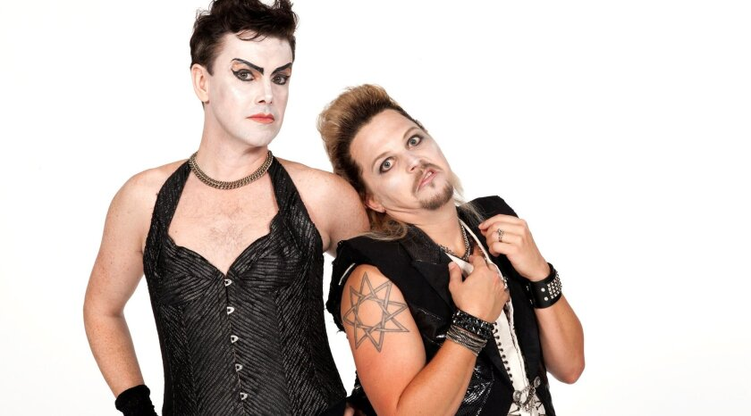 Matt McGrath stars as Frank 'N' Furter and Jason Wooten as Riff Raff in Richard O'Brien's The Rocky Horror Show at The Old Globe.