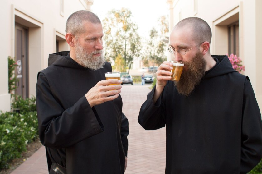 Monks of Norcia at their Orange County bottle release.