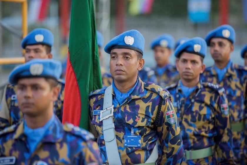 Vista de Tropas de la Misión de la ONU. EFE/Archivo