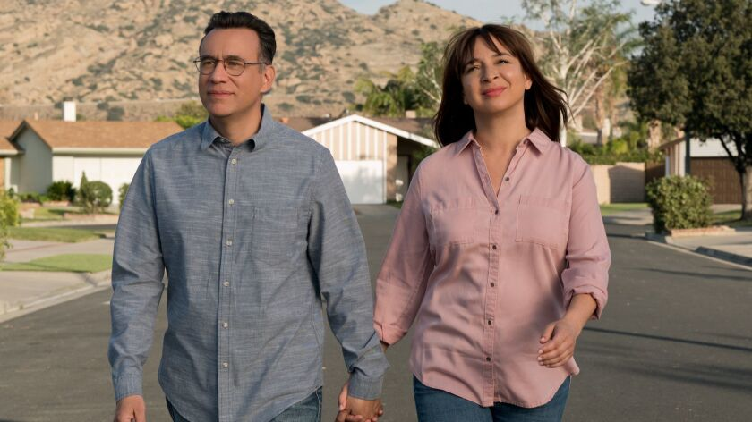 """Fred Armisen and Maya Rudolph in the television series, """"Forever."""" Credit: Colleen Hayes / Amazon Pr"""