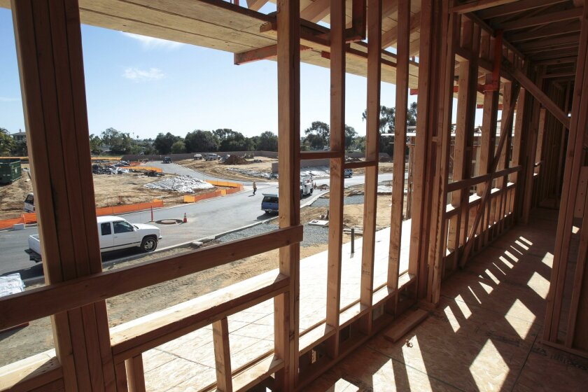 CARLSBAD, February 10, 2016 | Looking out from the second floor of a model home under construction at Lanai by Shea Homes, a twenty homes development in Carlsbad on Wednesday. | -Mandatory Photo Credit: Photo by Hayne Palmour IV/San Diego Union-Tribune, LLC