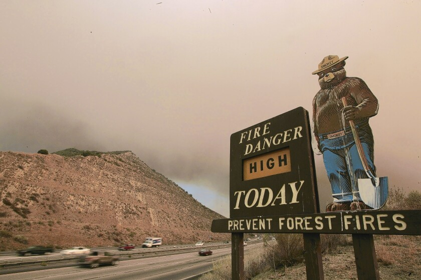 Smokey Bear was created Aug. 9, 1944, as a property of the U.S. government. During World War II, government officials were worried that enemies might set fire to U.S. forests to destroy an important resource: timber.