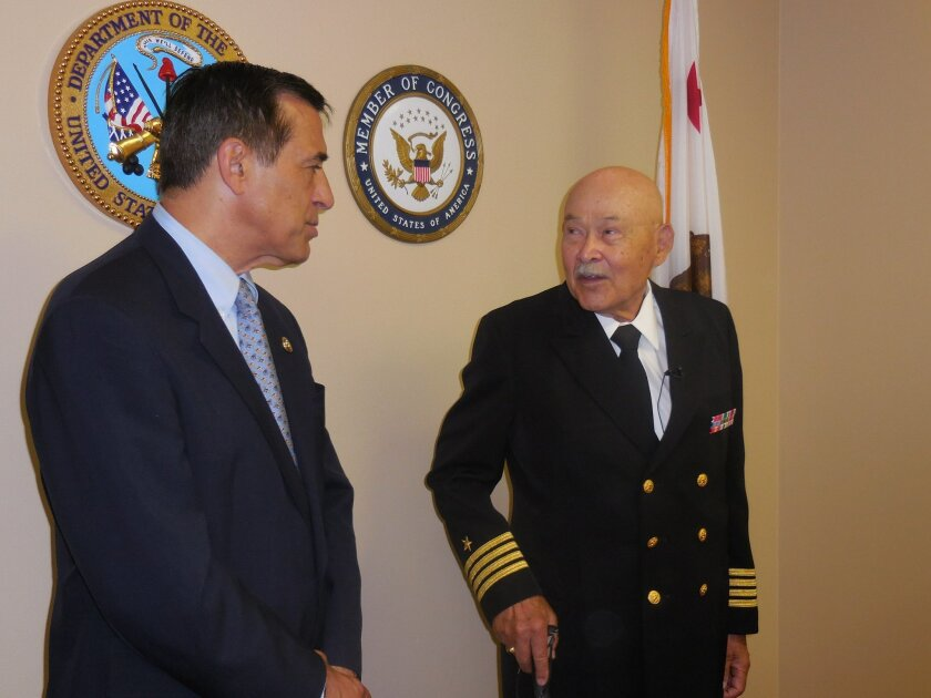 Congressman Darrell Issa presented retired Navy Capt. Robert Sulit with the Bronze Star.