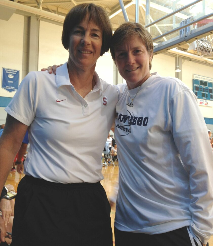 The VanDerveer sisters, Tara (left) and Heidi (right) will face off for the first time in their careers when Tara's Stanford team welcomes Heidi's UCSD team to Palo Alto on Saturday, Nov. 8, 2014