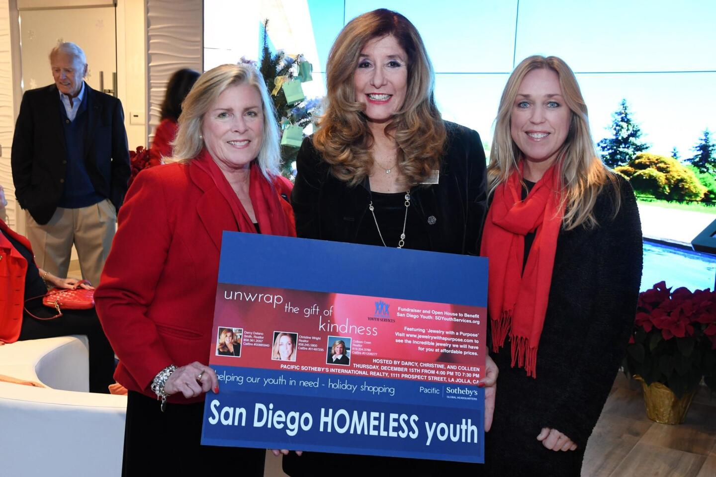 Pacific Sotheby's International Realty hosted a fundraising party to benefit San Diego Youth Services, Dec. 15, 2016 at the real estate firm's 1111 Prospect St. offices in La Jolla.