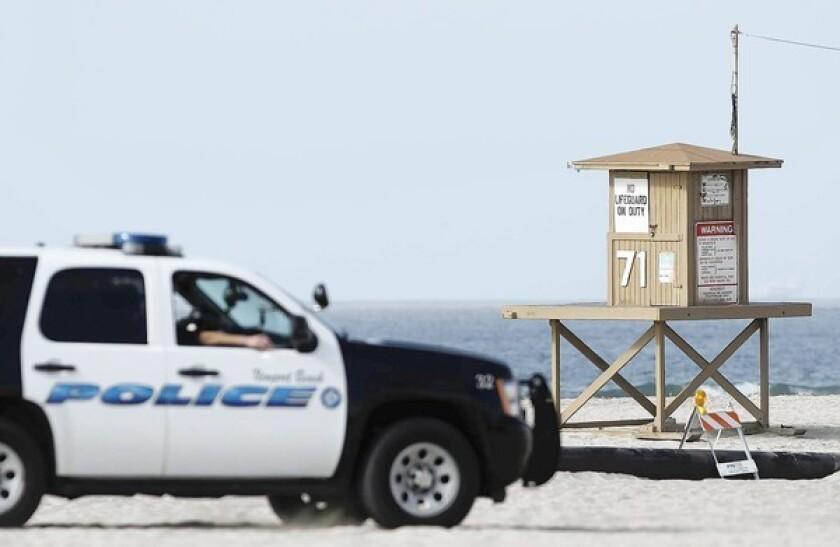 A Newport Beach Police Department cruiser.