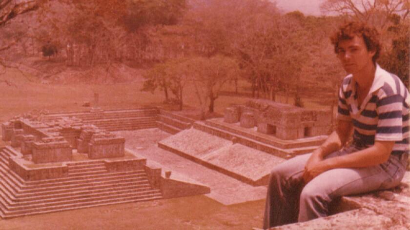 Tim Kaine visiting a Mayan ruin in Honduras.