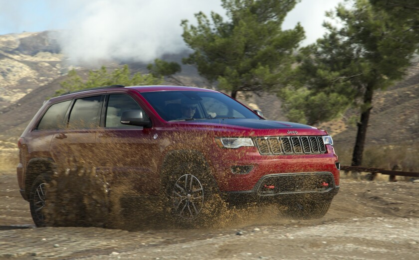 The 2017 Jeep Grand Cherokee Trailhawk 4x4 has an MSRP of $43,990. The model comes standard with a 293 horsepower, 3.6-liter V6 engine, with optional 3-liter V6 EcoDiesel and 5.7-liter HEMI V8 engines also offered.
