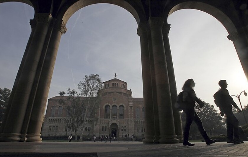 Powell Library at UCLA is among the campus' seismically vulnerable buildings.