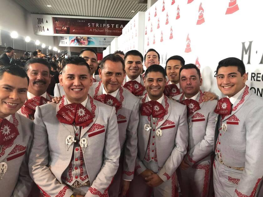 La agrupación angelina Mariachi Sol de México durante su participación en la reciente ceremonia del Latin Grammy.