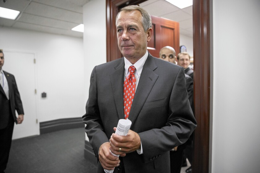 House Speaker John A. Boehner (R-Ohio), after years of butting heads with tea party Republicans, now faces a rise in moderate voices.