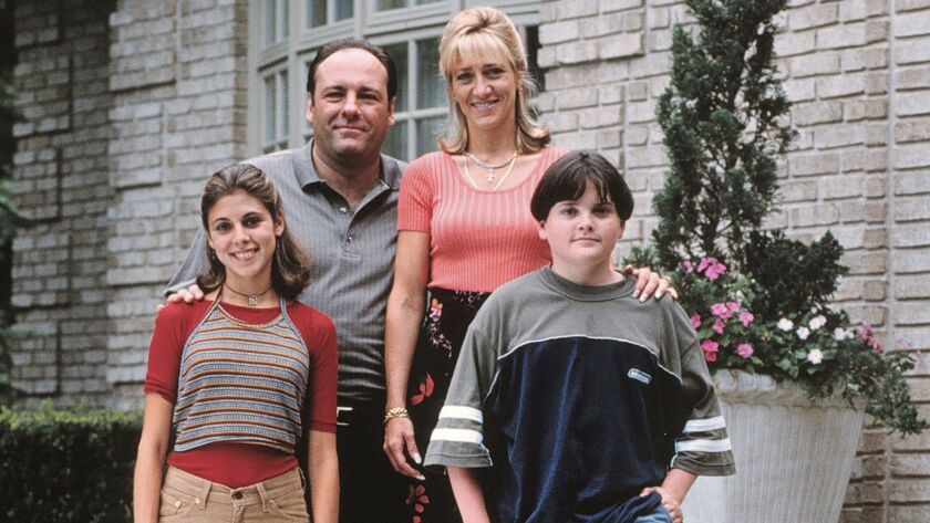 **FILE**This photo, provided by HBO, shows, from left, Jamie Lynn Sigler as Meadow Soprano, James Ga