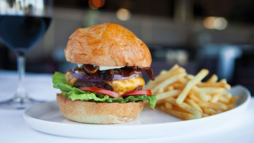 The gourmet burger served at Holland America Line's Pinnacle Grill.