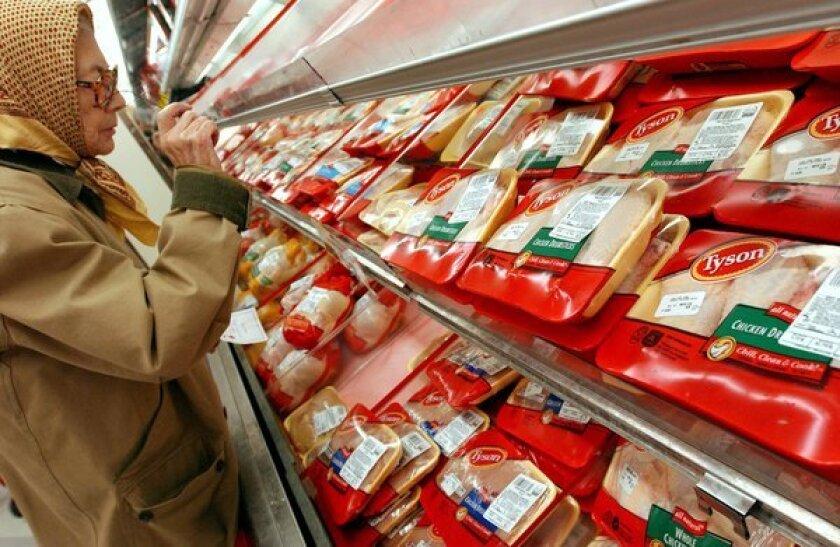 Tyson chicken in a supermarket