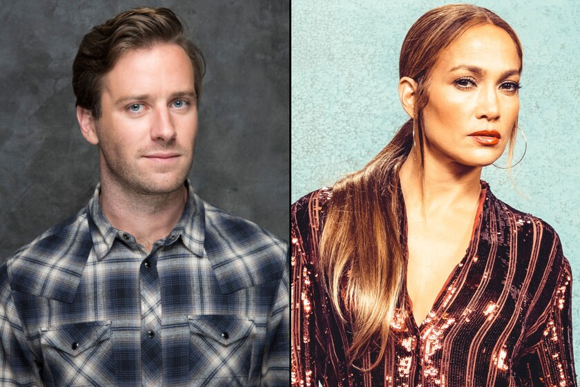 Armie Hammer and Jennifer Lopez were set to star in a film entitled 'Shotgun Wedding'