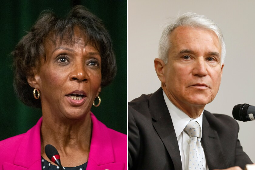 Los Angeles County Dist. Atty. Jackie Lacey and former San Francisco Dist. Atty. George Gascón will face off in November.