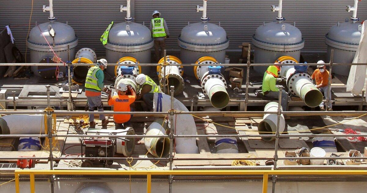 Carlsbad Entsalzungsanlage gesperrt, inmitten der Corona-Virus-Pandemie