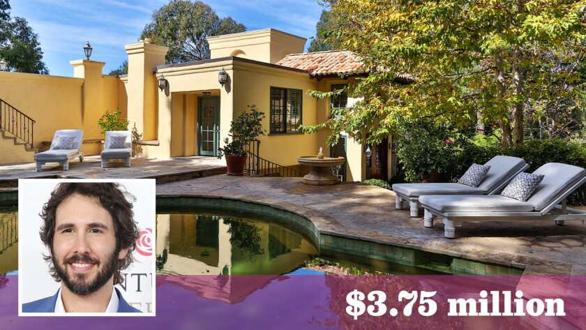Singer Josh Groban has parted ways with his scenic home in Malibu for $3.75 million. He bought the house more than a decade ago for $4.125 million.