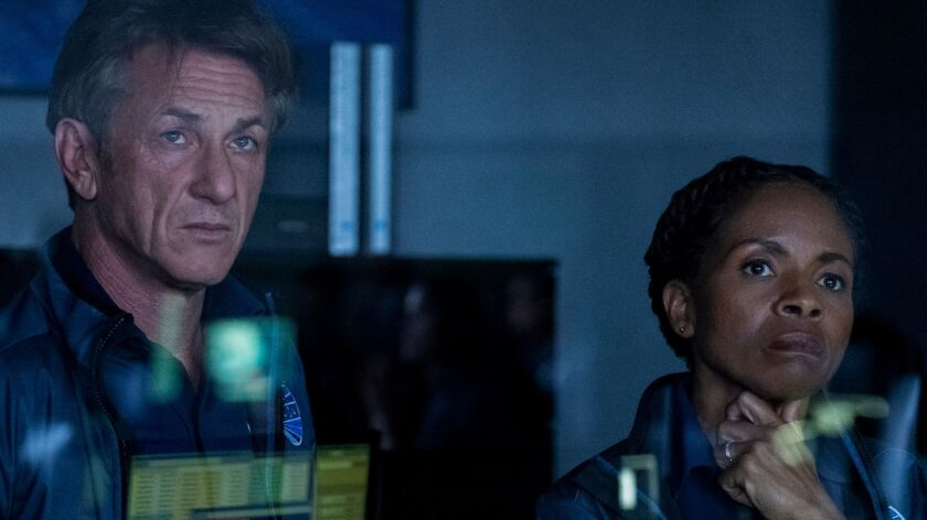 """Sean Penn and LisaGay Hamilton in a scene from the new Hulu space drama """"The First."""""""