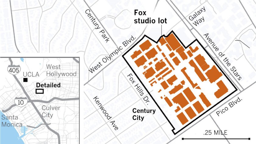 The historic Fox Studios lot in Century City