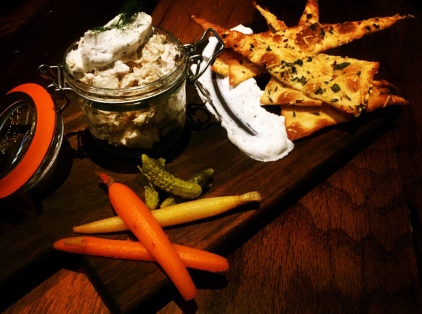 Potted smoked trout spread at The Tuck Room Tavern.