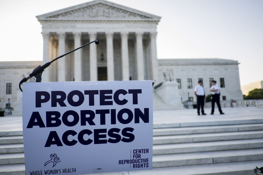 Abortion foes have used the coronavirus pandemic as a reason to institute new restrictions on abortions in several states.